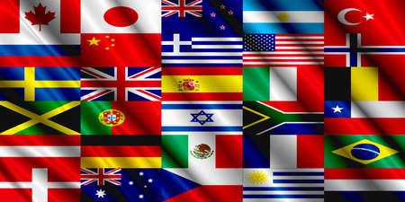 sweden flag: Countries Flag silk
