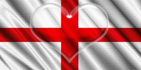 corazon cristal: Inglaterra Bandera Coraz�n de Cristal