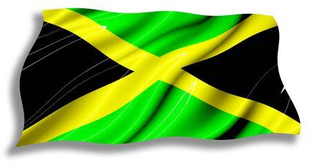 Jamaica shiny waving Flag