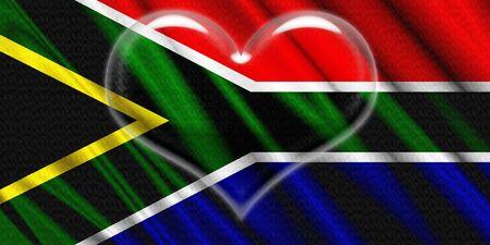 corazon cristal: �frica del Sur Bandera coraz�n de cristal