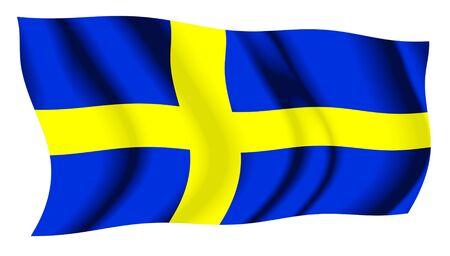 sweden flag: Sweden Waving Flag