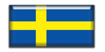 rectangle: Sweden rectangle icon Stock Photo