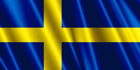 sweden flag: Sweden Silk Flag