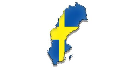 sweden flag: Sweden state Flag Stock Photo