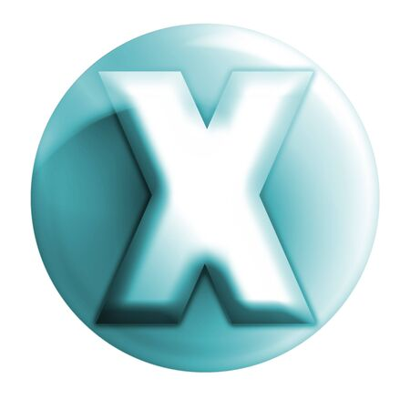 webmail: bluish x icon Stock Photo