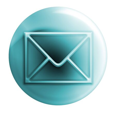 webmail: bluish envelope outlines Stock Photo