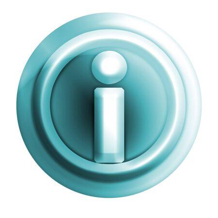 webmail: bluish circle i icon