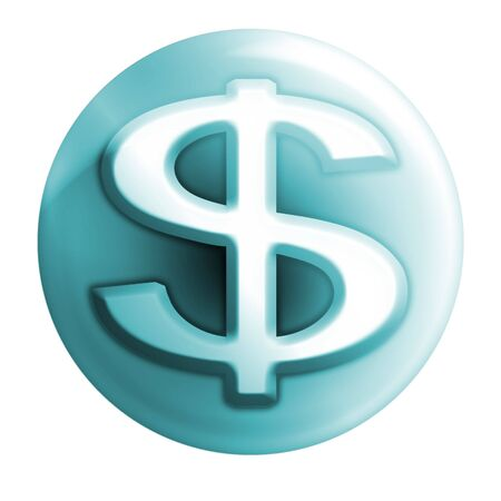 webmail: money bluish icon Stock Photo