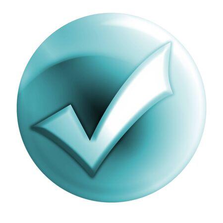 confirm: bluish right icon