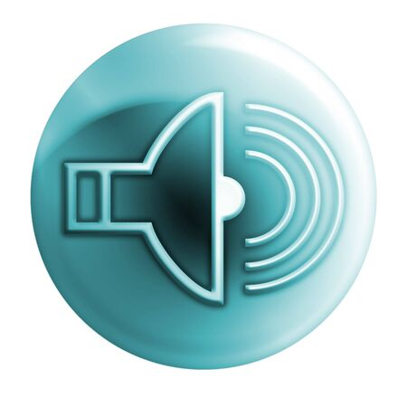 webmail: bluish volume icon Stock Photo