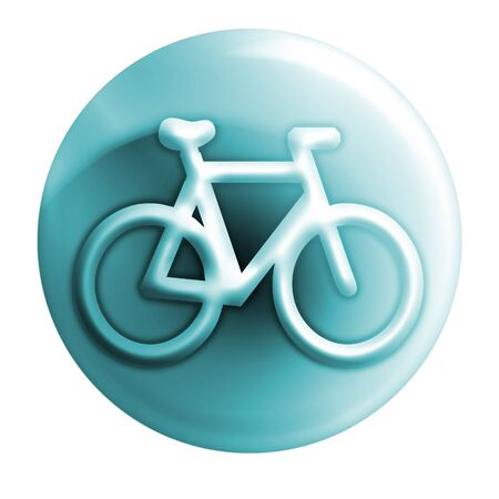 webmail: bycicle bluish icon Stock Photo