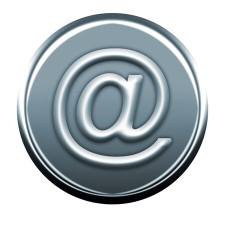 webmail: gray @ icon Stock Photo