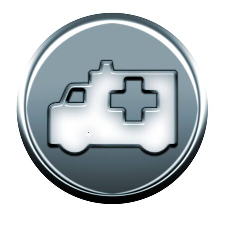 webmail: Gray ambulance icon