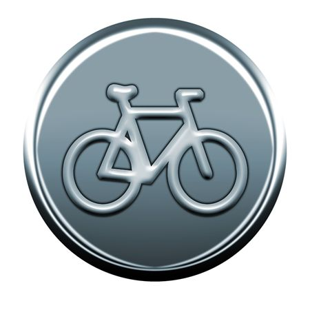 webmail: bycicle gray icon Stock Photo
