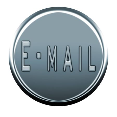 webmail: gray email icon Stock Photo