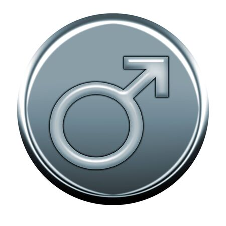 webmail: male gray icon Stock Photo