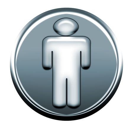 webmail: man gray icon