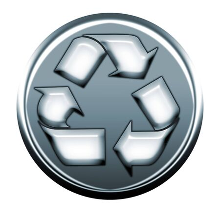 webmail: recycle gray icon Stock Photo