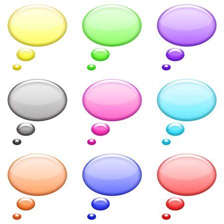 shiny: circles bubble shiny icons set Stock Photo
