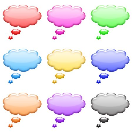 bumpy: bumpy bubble shiny icons set Stock Photo