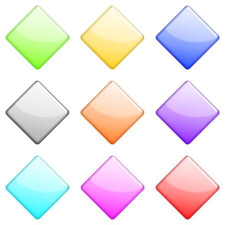 shiny: shiny diamonds icons set Stock Photo
