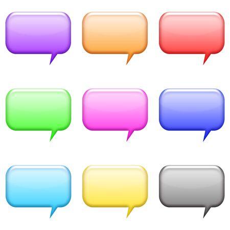 rectangle: rectangle bubble icons shiny set