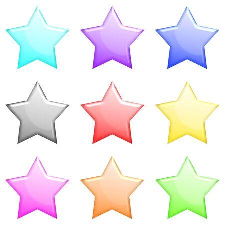 shiny: Shiny stars icons set