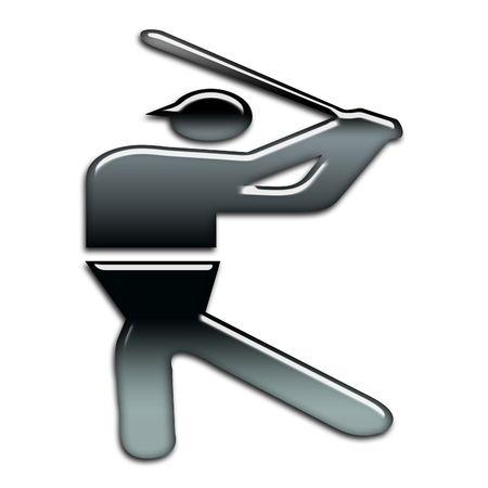 blackbright baseball icon photo