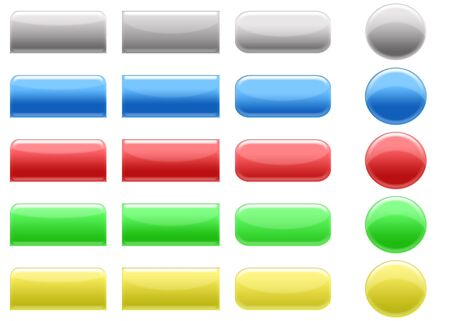icon tabs set main colors Stock Photo - 3128271