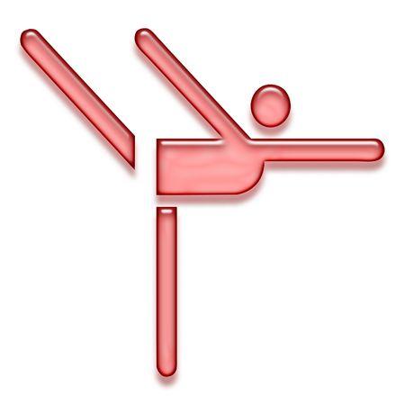 red gymnastics icon Stock Photo - 3127922
