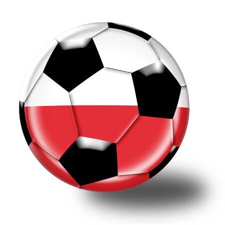 football poland Reklamní fotografie