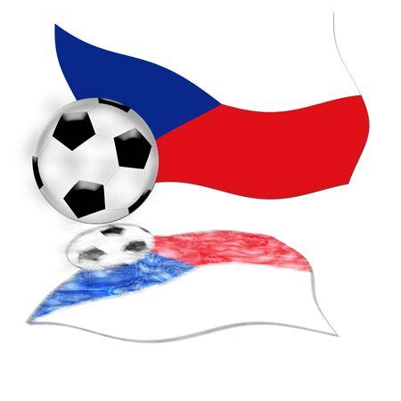 football flagczech republic 版權商用圖片 - 3140270