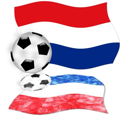 the netherlands: football flag netherlands Stock Photo