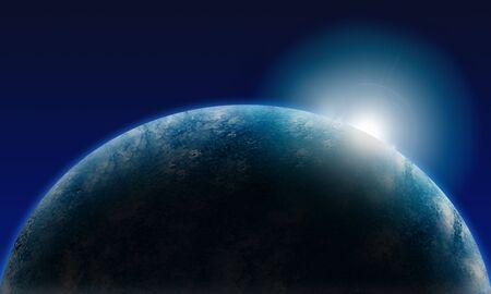 照らす: 地球を照らす