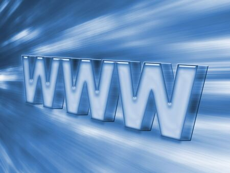 www blue speed connection Stock Photo - 3189197