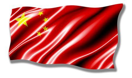 China Shiny Waving Flag