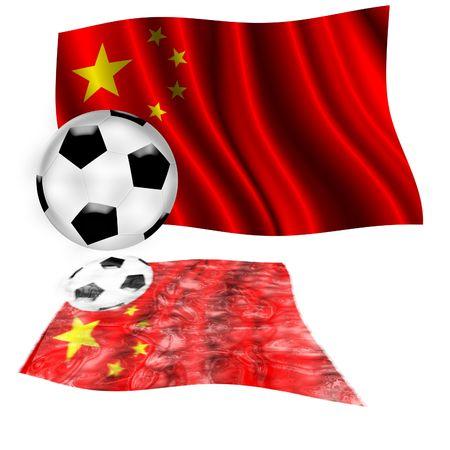 football flag china Editorial