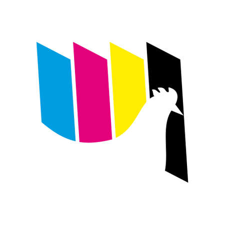 painting print logo icon Stock Illustratie