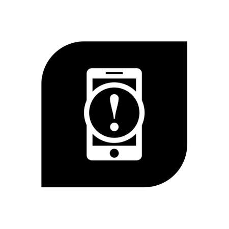 warning cellphone flat icon