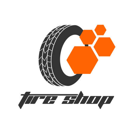 Tyre Shop Logo Design - Tyre Business Branding, tyre logo shop icons, tire icons, car tire simple icons - Vector 矢量图像