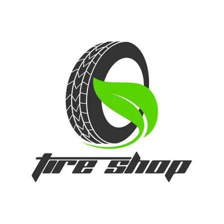 Reifenshop-Logo-Design - Reifengeschäfts-Branding, Reifenlogo-Shop-Symbole, Reifensymbole, einfache Symbole für Autoreifen - Vektor Logo