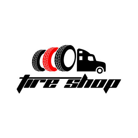 Tyre Shop Logo Design - Tyre Business Branding, tyre logo shop icons, tire icons, car tire simple icons - Vector Vettoriali