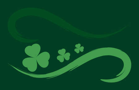 clover background vector. Template for voucher, special business ad, banner. Irish clover background. Banque d'images - 124678749
