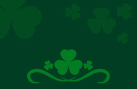 clover background vector. Template for voucher, special business ad, banner. Irish clover background. Banque d'images - 124678750