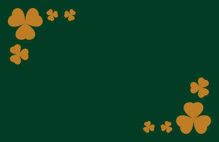 clover background vector. Template for voucher, special business ad, banner. Irish clover background. Banque d'images - 124678752