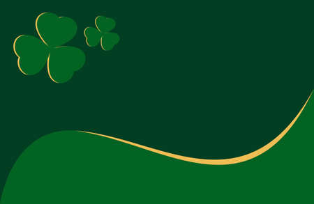 clover background vector. Template for voucher, special business ad, banner. Irish clover background. Banque d'images - 124678753