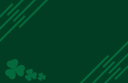 clover background vector. Template for voucher, special business ad, banner. Irish clover background. Banque d'images - 124678756