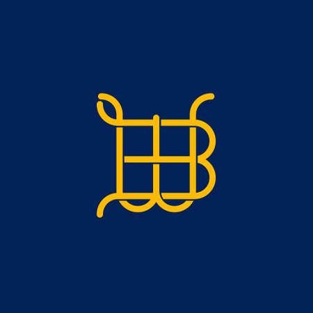 B W initial letter  design