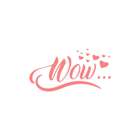 wow custom text pink color romantic love Ilustrace