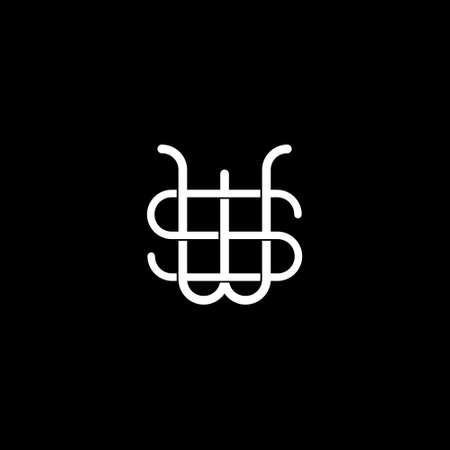 SW initial letter   design